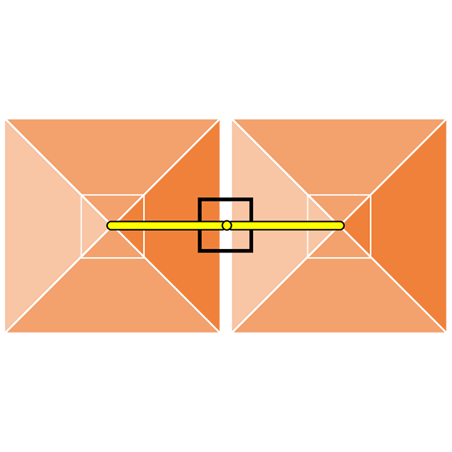 Rectangular Central Double